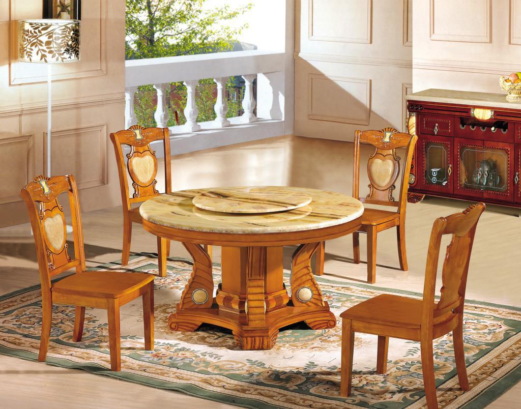 酒店实木圆餐桌椅