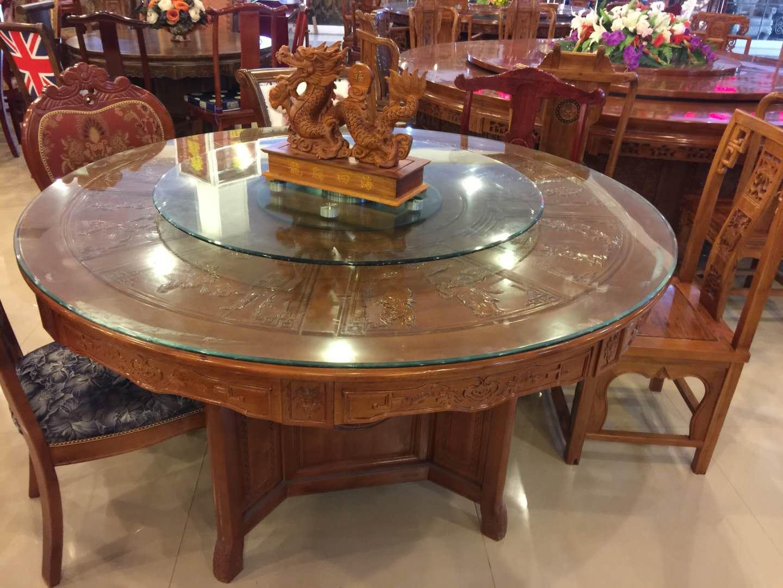 饭店手动圆餐桌