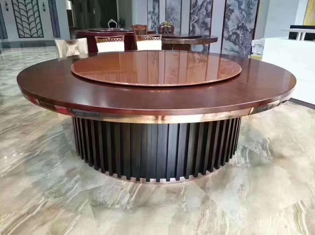 中今大理石台面电动餐桌
