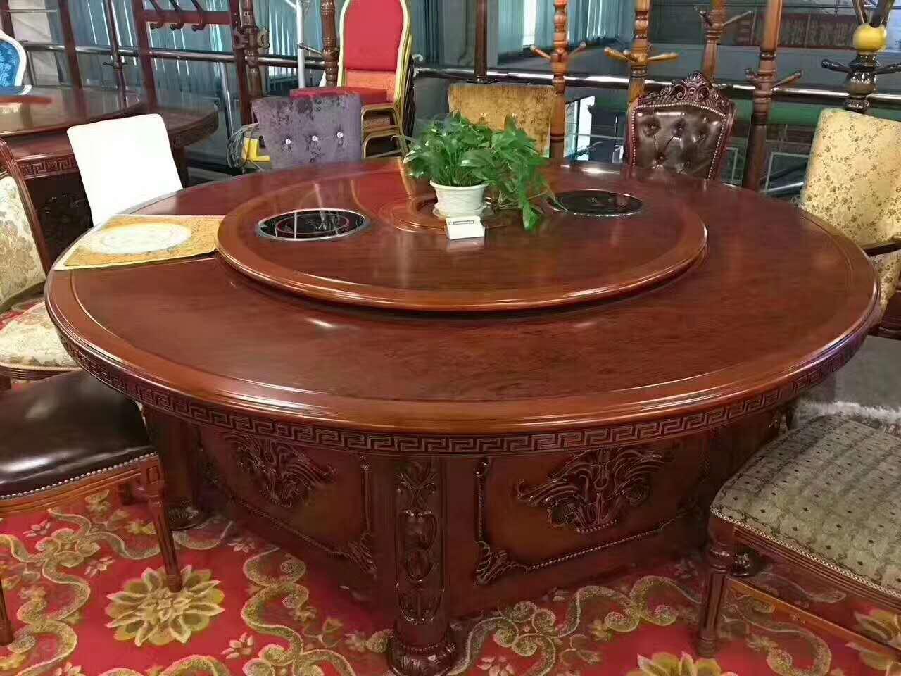 酒店实木电动餐桌